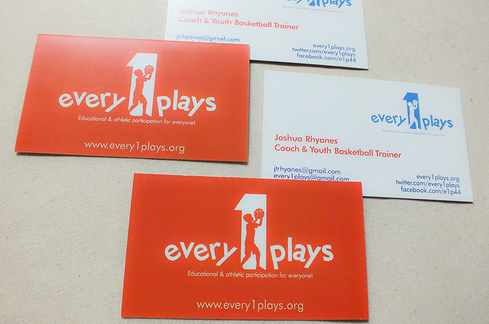 Every1Plays Business Cards, Special Thanks to KD & Crossroads ...